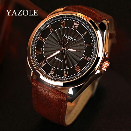 YAZOLE Mens watches Top Brand Luxury Mens Business Clock Male Quartz Wrist watch Quartz watch