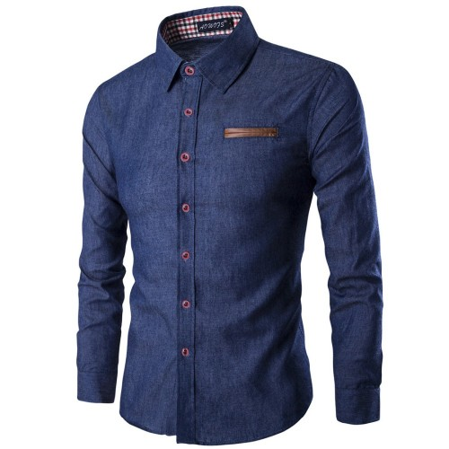 2017 New Arrival Casual Business Men Dress Shirts Luxury Brand Long Sleeve Cotton Stylish High Quality