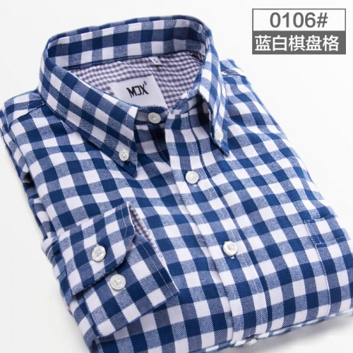 2017 New Autumn Brand Men s Plaid Shirt Male Warm Long Sleeve Shirt Plus Size Youth