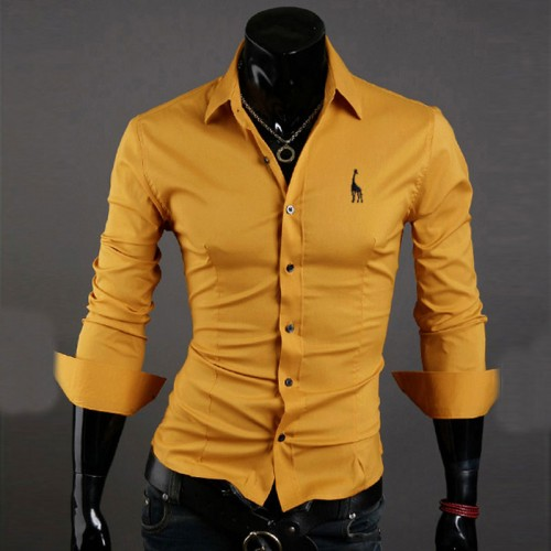 Fashion Brand Business Men s Shirt Embroidered M XXXXL Long Sleeved Casual Formal Camisa Male Social