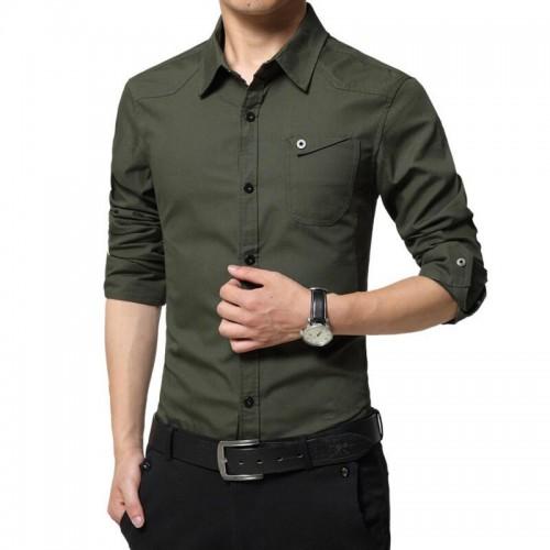 LiSENBAO Plus Size M 5XL High quality Summer men s military uniform style men Casual long