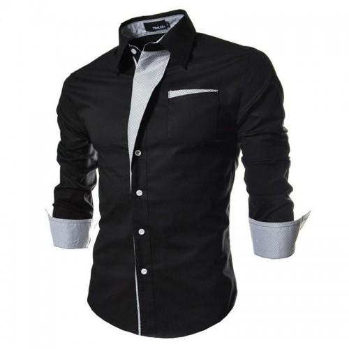 striped shirt men long sleeve 2016 brand new casual shirt chemise for men slim fit tuxedo
