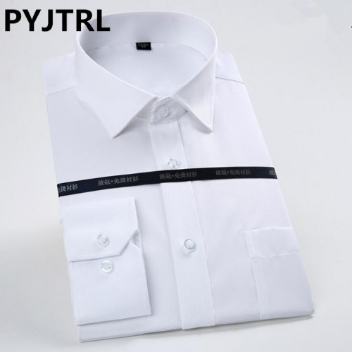 100 Cotton Hight Quality Man Long Sleeve Non iron Business Affairs Trend Brand Casual Office Shirt
