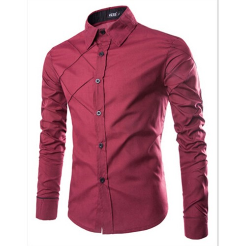 Fashion Autumn Men Shirt Brand Clothing Cotton Long Sleeve Turn down Collar Dress Shirts Office Work