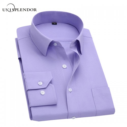 Long Sleeve Slim Men Dress Shirt 2017 Brand New Fashion Designer High Quality Solid Male Clothing