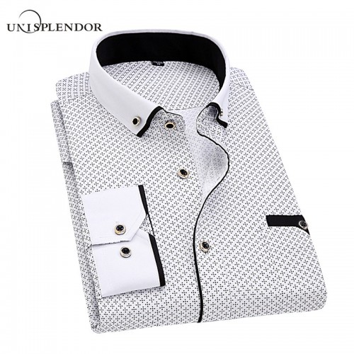Men Dress Shirt 2017 Spring New Arrival Button Down Collar High Quality Long Sleeve Slim Fit