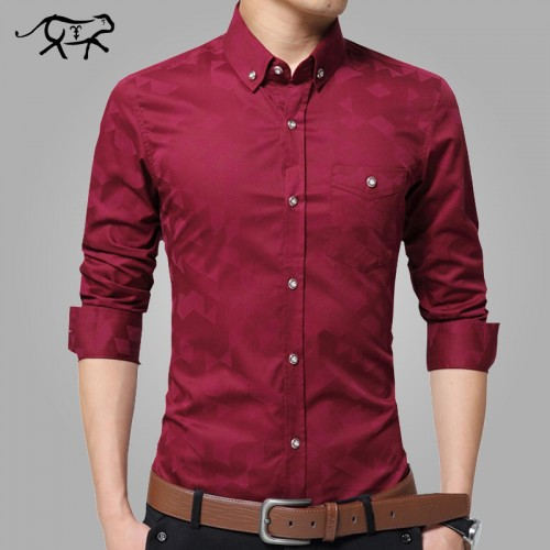 Spring Brand New Men Shirt Male Dress Shirts Men s Fashion Casual Long Sleeve Slim Business