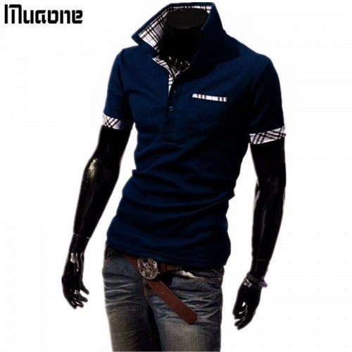 100 Cotton Mens Polo Shirt Brands 2017 Male Short Sleeve Fashion Casual Slim single Pocket Stitching