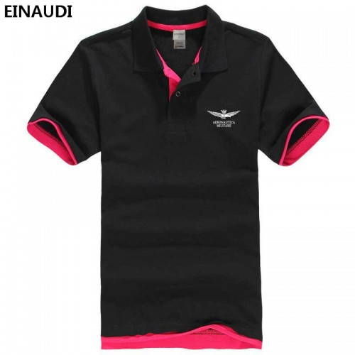 2017 EINAUDI Summer Air Force One Printed Polo Shirt Aeronautica Militare Cotton Polos Top Quality Lapel
