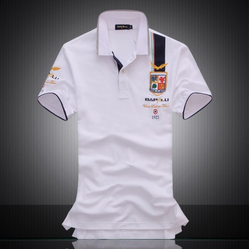 2017 summer new men s boutique embroidery breathable top cotton polo shirt lapel Men s Brand