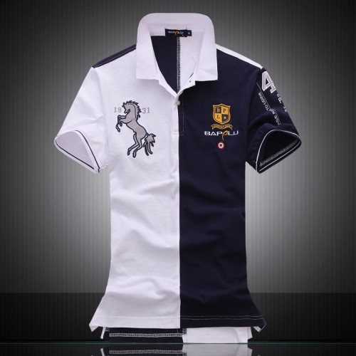 Embroidered Horse Logo Brand Militare Men Polo Shirts Air Force One short sleeve polos male top