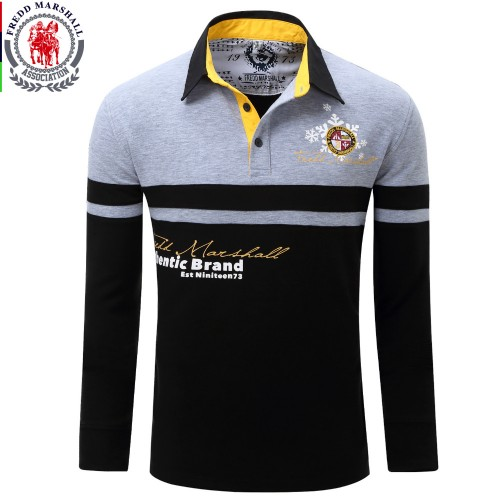 Europe Size New Brand Men s Solid Long Sleeve Polo Shirt Autumn Full Sleeve Warm Shirt