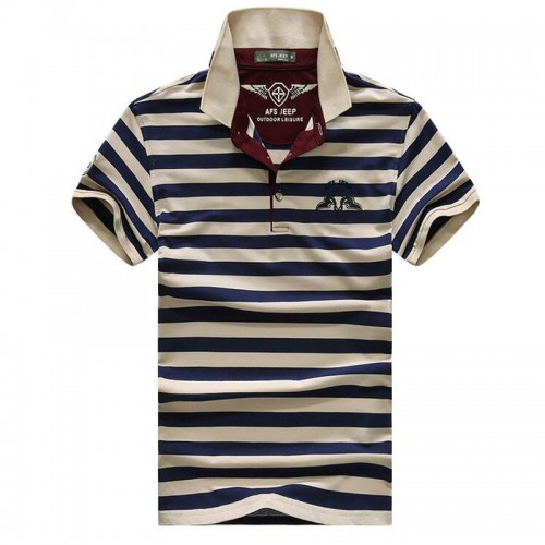 High quality brand men polo shirt new summer casual striped cotton men s polo solid polo