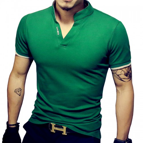 Hot Sale New Fashion Brand Men Polo shirt Solid Color Short Sleeve Slim Fit Shirt Men