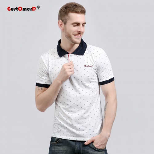 US size S XXL 2017 Summer Fashion Brand Clothing Polo Shirt Slim Fit Print Polos Casual