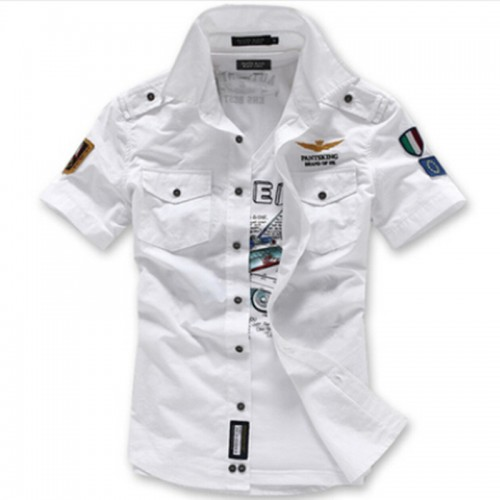 Fashion Airforce Uniform Military Short Sleeve Shirts Men s Dress Shirt Military Uniform Shirt
