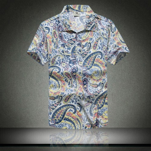 Fashion Mens Short Sleeve Hawaiian Shirt Fast drying Plus Size Asian Size M 5XL Summer