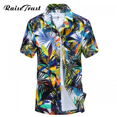Mens Hawaiian Shirt Male Casual camisa masculina Printed Beach Shirts Short Sleeve 2017 New Fashion Brand