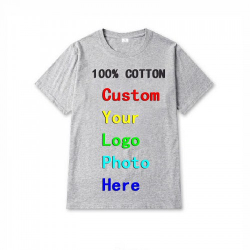 New Design Custom Printed Logo Photo Personalized Tees Mens Camisa Masculina Men Shirt Advertising Tops