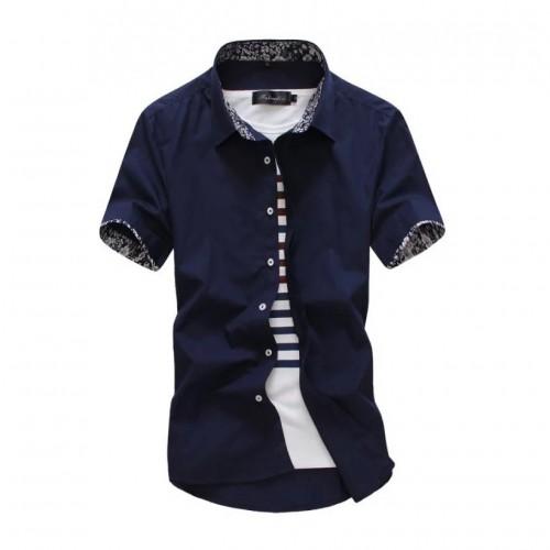 New male shirt brand summer mens dress shirts short sleeve for Mens short sleeve dress shirts slim fit