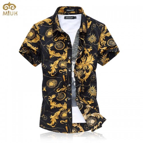 Super Large Size Floral National Style Chemise Homme 6XL 5XL Cotton Camisa Masculina Brand Clothing Short