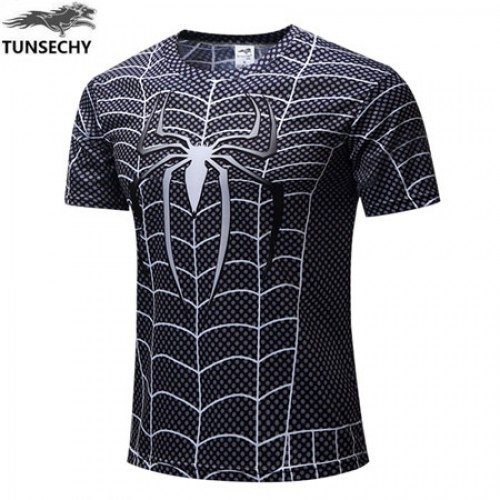 Motion Printed Half Sleeves Quick Dry T Shirt (5)
