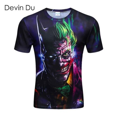 New summer short sleeve round collar 3d printed t shirt men brand Polyester men