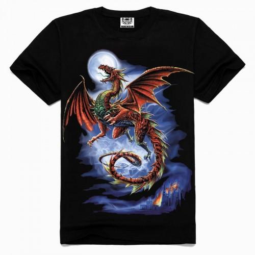 Popular summer Evil dragon tshirt New style cotton men t shirt Black T Shirt Hip