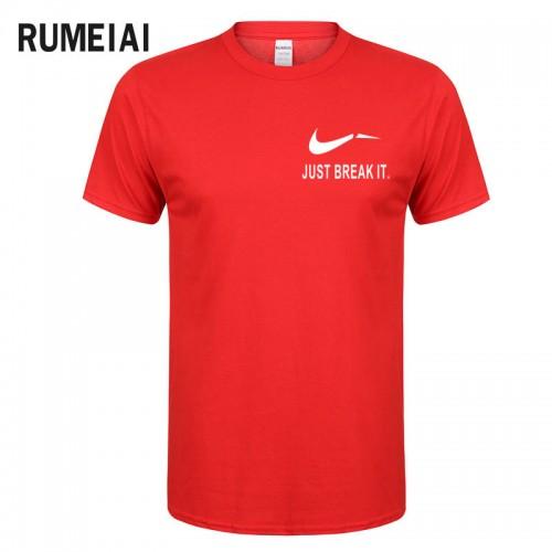 RUMEIAI Fashion Men T Shirts Male US Size T shirt Homme Summer cotton Short Sleeve T