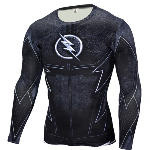 The Flash Black Panther T Shirt Men 3D Printed T shirts Fitness Compression Shirt Crossfit Long