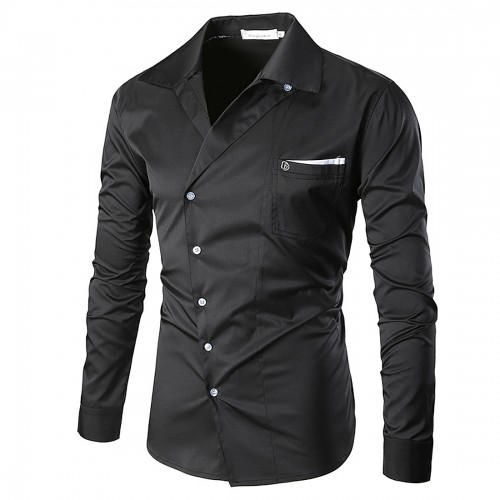2017 Spring Shirt Mens Party Lapel kimono Shirt Long Sleeve chemise homme brand clothing camisa vestidos