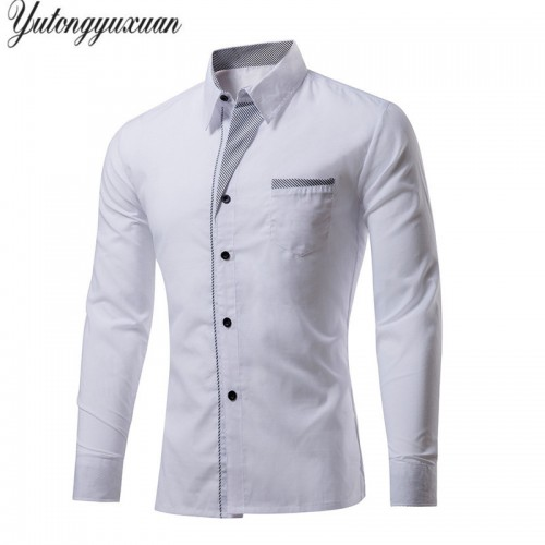 M 4XL Plus Size Top Sale Men s Luxury Shirts Stylish Casual Shirt Men Long Sleeve