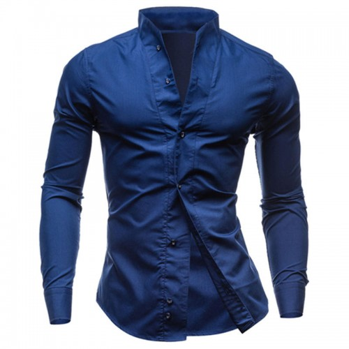 Men Shirts Dress Handsome Long Sleeve Tuxedo Stylish Shirts Business Wedding Shirts New Regular Tops 0796