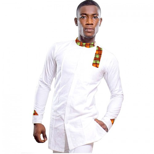 Private custom men fashion print stand collar tops dashiki clothing male african shirt trending africa clothing