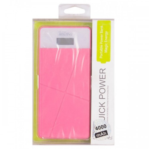 Faster Power Bank for Mobile Phone(FPB-2401) - 24000 mAh - Pink / FASTER PK