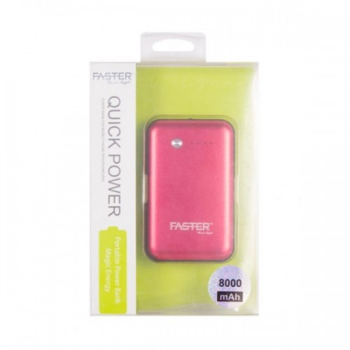 Faster Power Bank for Mobile Phone(FPB0803) - 8000 mAh - Mehroon/ FASTER PK