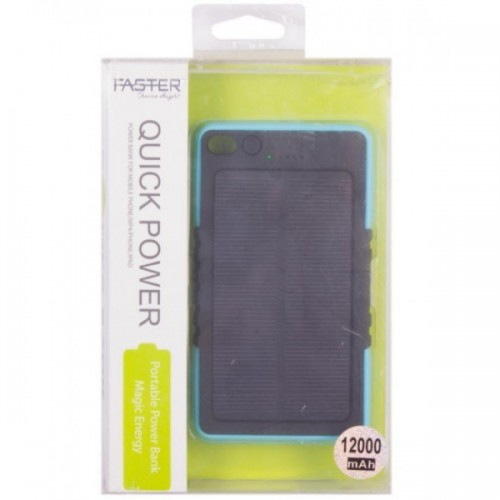 Faster Power Bank for Mobile Phone(FPB1202) - 12000 mAh - Blue/ FASTER PK
