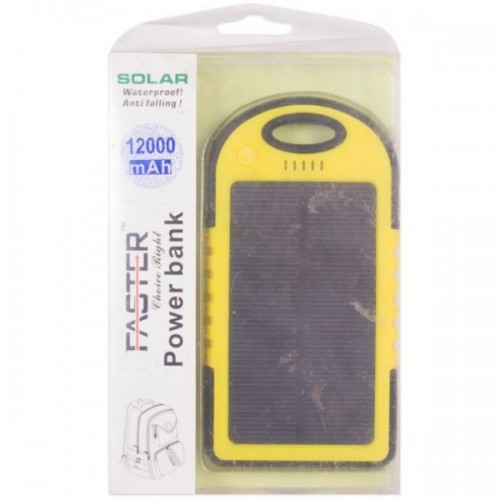 Faster Power Bank for Mobile Phone(FPB1203) - 12000 mAh - Yellow / FASTER PK