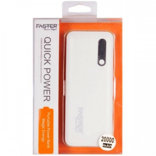 Power Bank(FPB-2001) - 20000 mAh - White and Grey (Brand Warranty) / FASTER PK