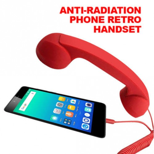 Universal Retro Radiation Proof Telephone Handset Headphones For Phone Calls
