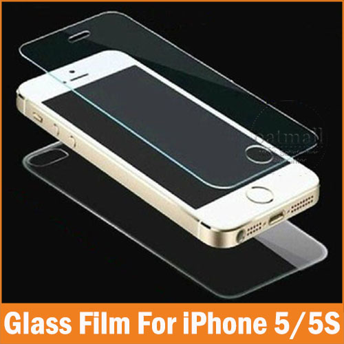 2PC 1Front 1Back Tempered Glass Film For Apple iPhone 5 5S 4 4S Screen Protector Full