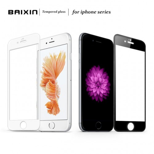 Baixin Full Cover Tempered Glass Screen Protector for iPhone 5 5s SE 6 6s 7 Glass
