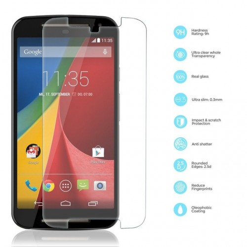 Front Premium Tempered Glass Film Thin 0 3mm Screen Protector For Motorola MOTO G2 G3