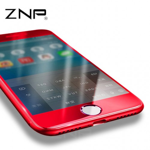ZNP For Apple iPhone 7 7plus Red Tempered Glass 0 3mm 3D Full Cover Screen Protection