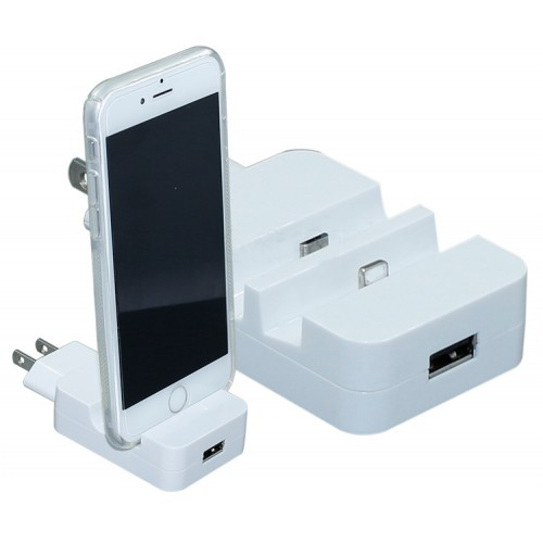 Universal New Design 2 in 1 Wall Charger Dock Station USB Charging Adapter For iPhone 5