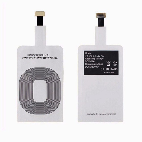 Universal Qi Wireless Charger Transmitter Patch Receiver Adapter Pad for Samsung iPhone 6 6s 5 5s