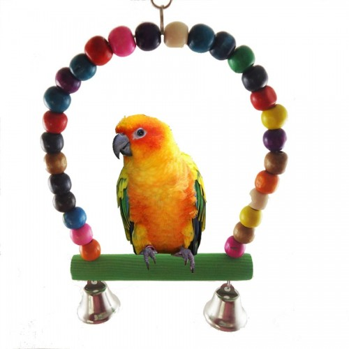 Chamsgend Bird toy Parrot Parakeet Budgie Cockatiel Cage Hammock Swing Toys Hanging Toy