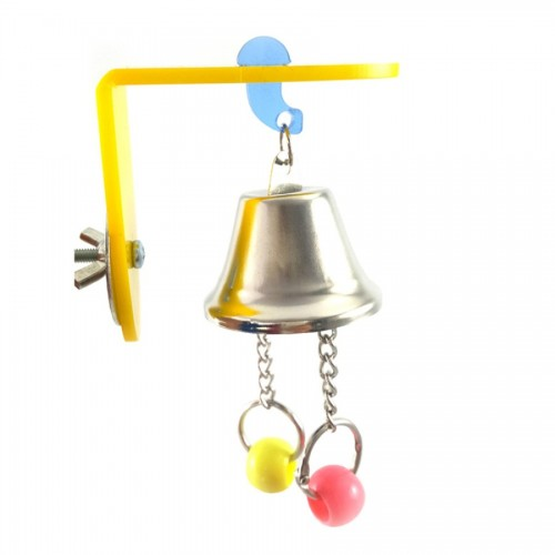 Parrot Toy Large Small Birds Alloy Bells Parrot Cage Essential Toys Pet Supplies Cockatoo Bird toy