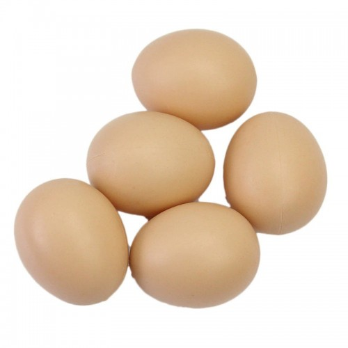 Hen Poultry Simulation Artificial Faux Fake Plastic Eggs for Chicken Duck Geese Hatch Incubation