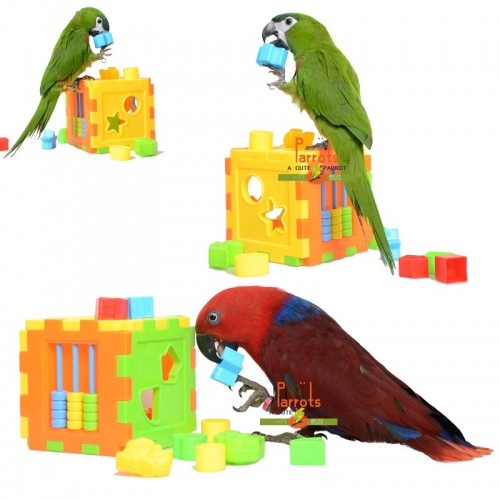 Parrot Puzzle Building Block Bird Intelligence Training Development Toys for Cockatiel Macaw Budgie DIY Part Accessories